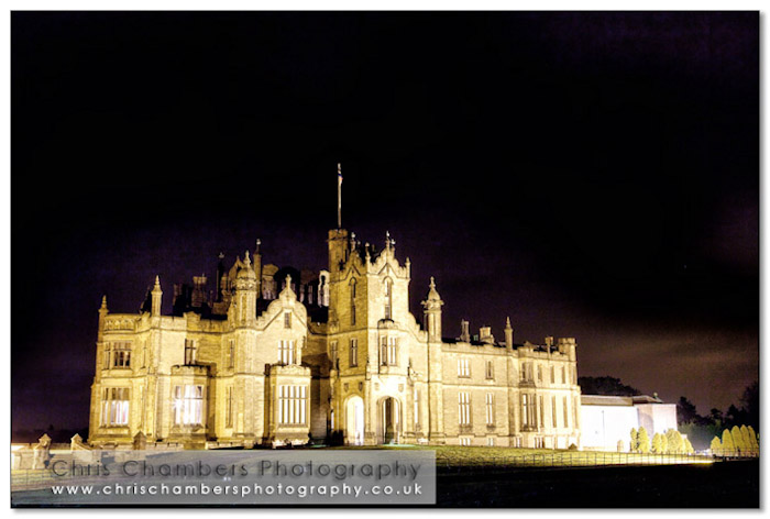 Allerton Castle at night