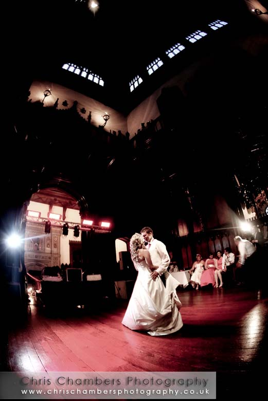 Dancing at Allerton Castle wedding photography from Chris Chambers