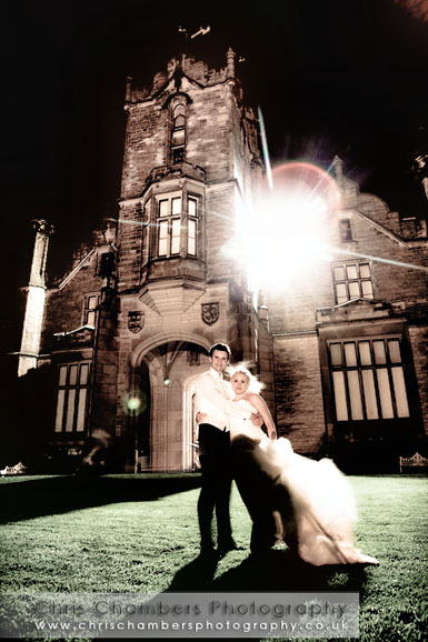Allerton Castle after dark