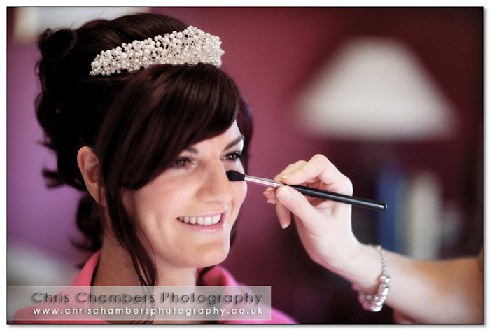 wedding preparation photography at Hazlewood Castle near york
