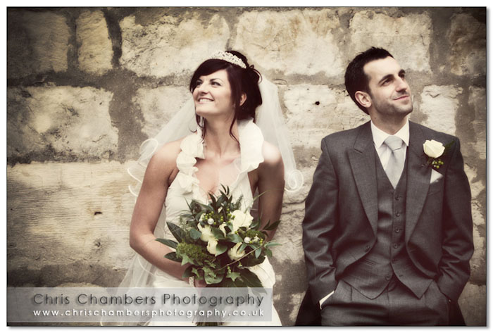 Yorkshire castle wedding venue. Wedding photography from Chris Chambers