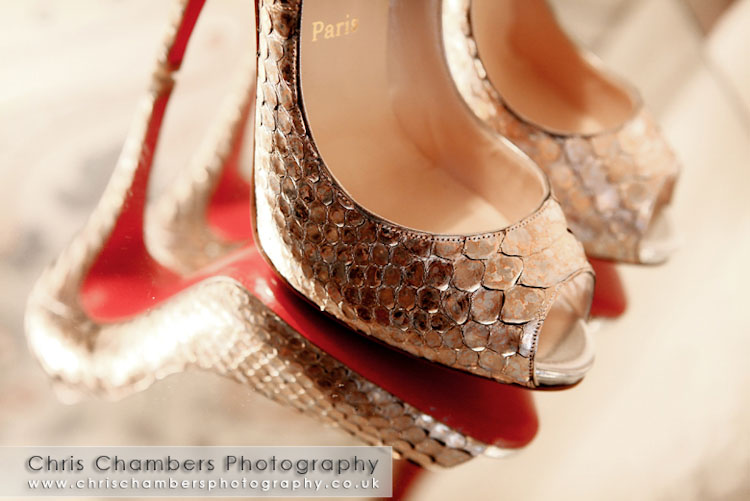 Louboutin wedding shoes. Yasmins shoes for the wedding day