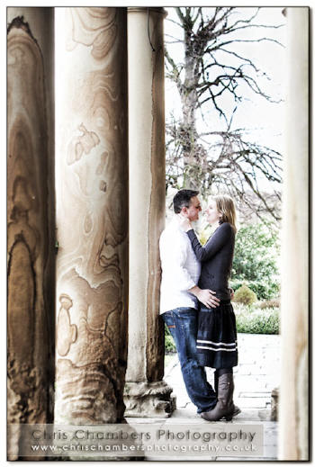 Pre wedding photo shoot at Walton Hall Waterton park near Wakefield