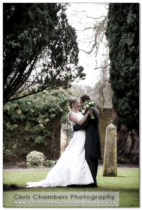Bride and Groom at the Parsonage Hotel near Selby and York