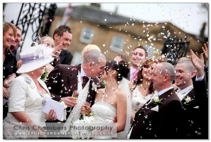 Confetti at Walton Hall