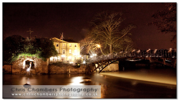 Walton Hall at night. Wakefield west Yorkshire