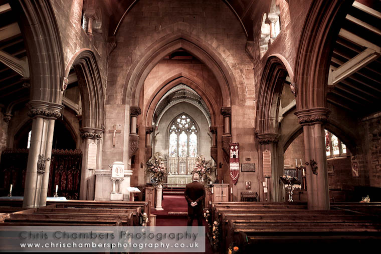 Inside Castleford Parish church